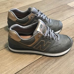 New Balance Rose Gold & Gray Bronze Copper Shoes